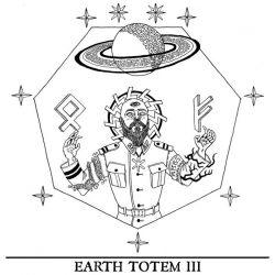 A Monumental Black Statue - Earth Totem III