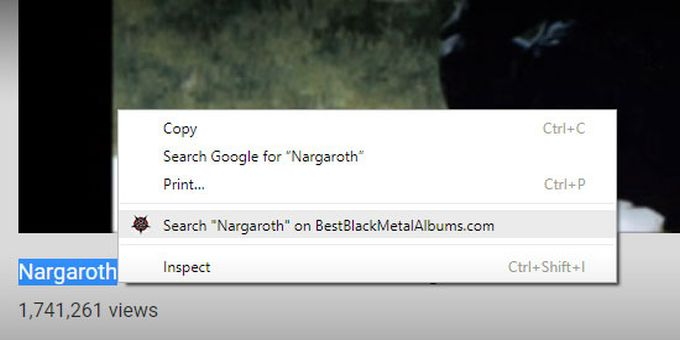 Google Chrome Extension for BBMA Searches