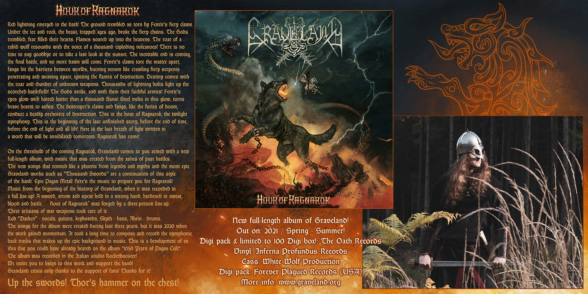 "New Graveland full-length, ""Hour of Ragnarok"", to be released on the 9th of August"