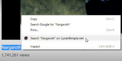Update to Google Chrome right-click search plugin