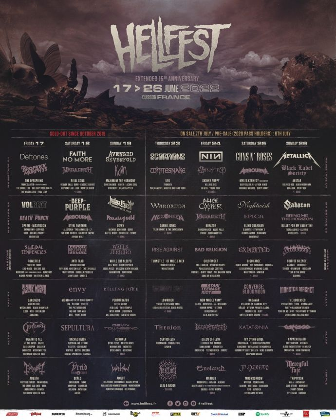 Hellfest 2022 Lineup Large