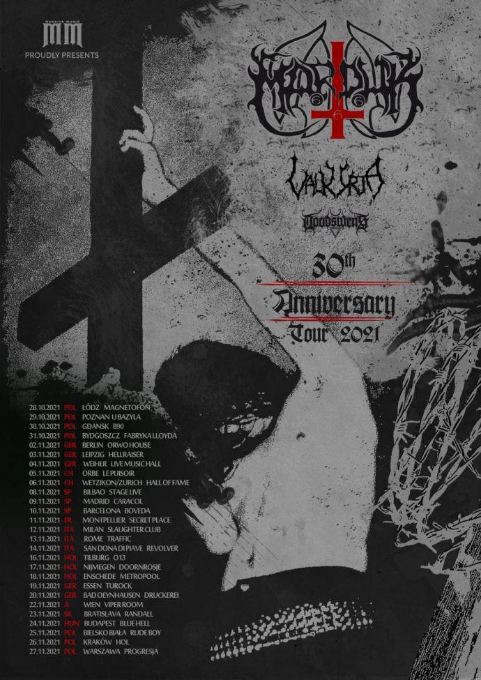 Marduk 30th Anniversary Tour 2021
