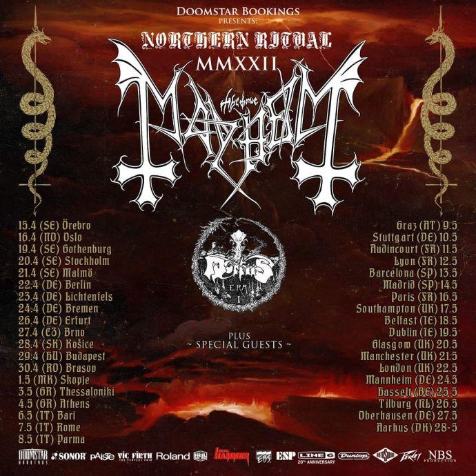 Mayhem Northern Ritual Mmxxii Tour 2022