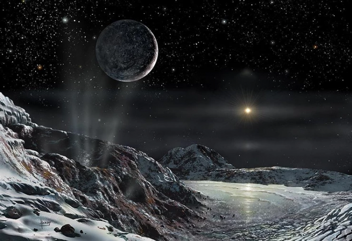 'Pluto and Charon' (2015) by David A. Hardy (© David A. Hardy/AstroArt)